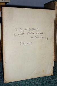 Livre ancien Savoie - Thèse de Doctorat (Turin, 1832, en latin) - Gravier Patrice, Abbé de Lanslebourg