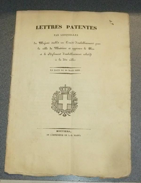 Livre ancien Savoie - Lettres Patentes par lesquelles sa Majesté établit un comité... - Lettres Patentes
