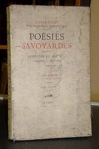 Livre ancien Savoie - Poésies Savoyardes. Jeunesse et age mur. Tomes second, age mur, 1855-1883 - Puget Alfred