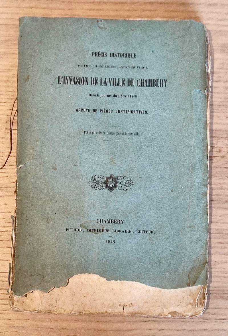 Livre ancien Savoie - Précis historique des faits qui ont précédé, accompagné et suivi... -