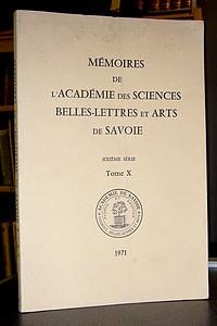 Livre ancien Savoie - Mémoires de l'Académie des Sciences, Belles-Lettres et Arts de Savoie.... - Académie des Sciences, Belles-Lettres et Arts de Savoie