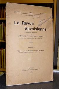 Livre ancien Savoie - La Revue Savoisienne, publication périodique de l'Académie Florimontane... - La Revue Savoisienne