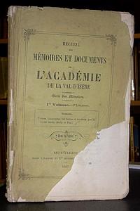 Livre ancien Savoie - Recueil des Mémoires et documents de l'Académie de La Val d'Isère, 1er... - Mémoires et documents de l'Académie de La Val d'Isère