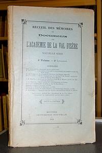 Livre ancien Savoie - Recueil des Mémoires et documents de l'Académie de La Val d'Isère, Nouvelle... - Mémoires et documents de l'Académie de La Val d'Isère