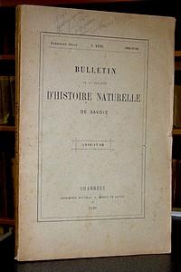 Livre ancien Savoie - Bulletin de la Société d'Histoire Naturelle de Savoie, Deuxième série, Tome... - Société d'Histoire Naturelle de Savoie