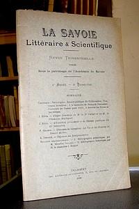 Livre ancien Savoie - La Savoie Littéraire & scientifique, 4è année, 4è trimestre, 1909 - La Savoie Littéraire & Scientifique