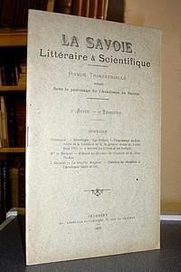 Livre ancien Savoie - La Savoie Littéraire & Scientifique, 8e année, 2e trimestre 1913 - La Savoie Littéraire & Scientifique