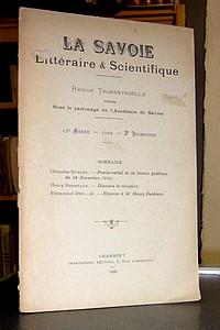Livre ancien Savoie - La Savoie Littéraire & Scientifique, 15è année 1920, 2è trimestre - La Savoie Littéraire & Scientifique