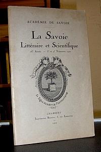 Livre ancien Savoie - Académie de Savoie, La Savoie Littéraire & Scientifique, 16è année, 3è et... - La Savoie Littéraire & Scientifique