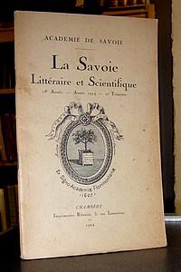 Livre ancien Savoie - Académie de Savoie, La Savoie Littéraire & Scientifique, 18è année, 2è... - La Savoie Littéraire & Scientifique