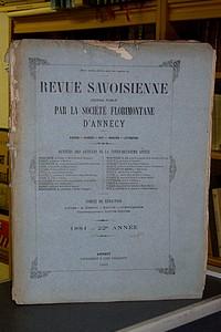 Livre ancien Savoie - Revue Savoisienne, 1881, 22ème année - Revue Savoisienne