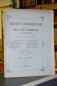Livre ancien Savoie - Revue Savoisienne, 1883, 24ème année - Revue Savoisienne