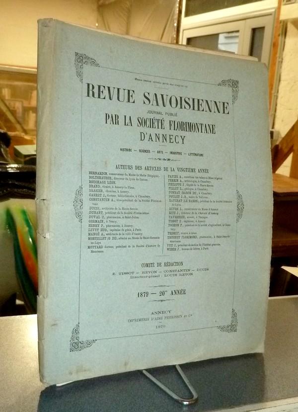 Livre ancien Savoie - Revue Savoisienne, 1879, 20ème année - Revue Savoisienne