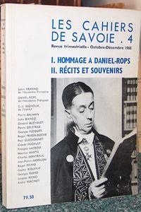 Livre ancien Savoie - Hommage à Daniel-Rops, Récits et souvenirs. Les Cahiers de Savoie n° 4 - Cahiers de Savoie (Les)
