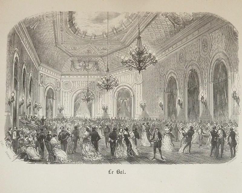 Livre ancien Savoie - Le bal (gravure) - Ginain Eugène
