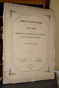 Livre ancien Savoie - Principe général pour déterminer les pressions et les tensions dans un... - Ménabréa, Louis Frédéric