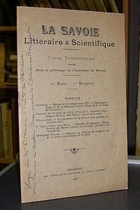 Livre ancien Savoie - Académie de Savoie, La Savoie Littéraire & Scientifique, 12è année, 1er... - La Savoie Littéraire & Scientifique