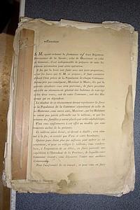 Livre ancien Savoie - Ensemble de documents concernant la formation de deux Régiments provinciaux de... - Collectif