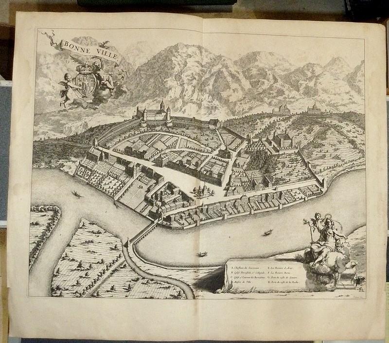 Livre ancien Savoie - Bonneville - Theatrum Sabaudiae - Blaeu - Borgonio