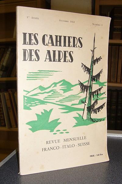 Livre ancien Savoie - Les cahiers des Alpes - n° 1 - 1re année, octobre 1951 -