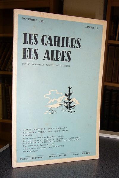 Livre ancien Savoie - Les cahiers des Alpes - n° 2 - 1re année, novembre 1951 -