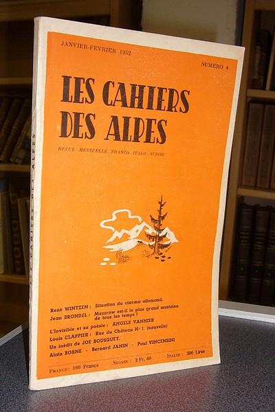 Livre ancien Savoie - Les cahiers des Alpes - n° 4 - janvier-février 1952 -