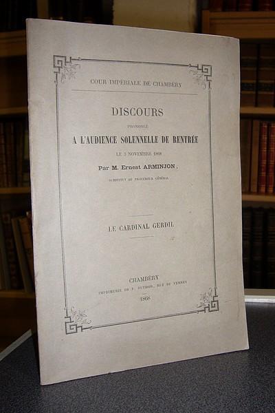 Livre ancien Savoie - Le Cardinal Gerdil - Arminjon, Ernest