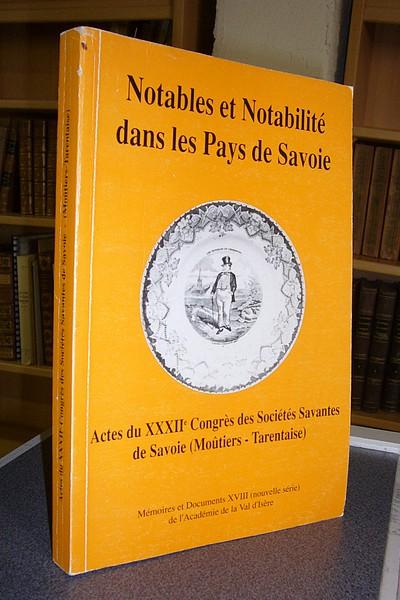 Livre ancien Savoie - Notables et Notabilités dans les Pays de Savoie - Collectif