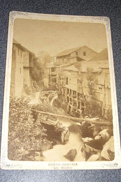 Livre ancien Savoie - Photographie originale vers 1880. « Grésy sur Aix, les moulins » - Anonyme