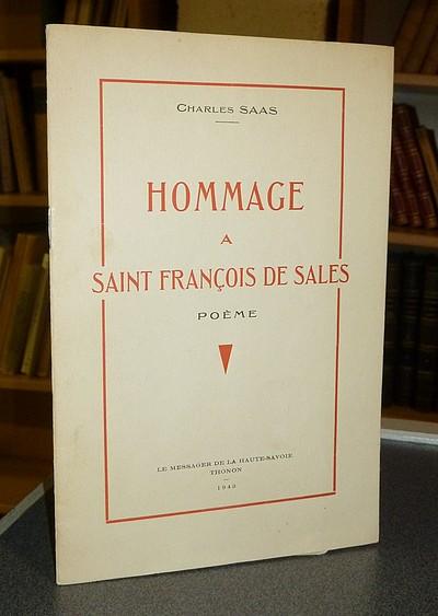 Livre ancien Savoie - Hommage à Saint François de Sales. Poème - Saas Charles