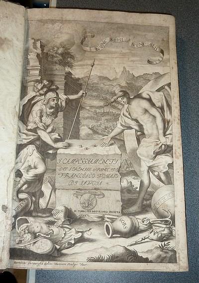 Livre ancien Savoie - Campeggiamenti del Serenissimo Principe Tomaso di Savoia, descritti dal Conte,... - Tesauro Emanuel