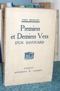 Livre ancien Savoie - Premiers et derniers vers d'un Savoyard - Nicollet Paul