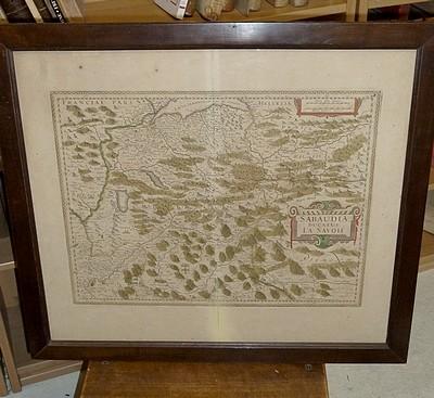 Livre ancien Savoie - Sabaudia Ducatus - La Savoié (carte coloriée - entre 1630 et 1637) - Judocus Hondius