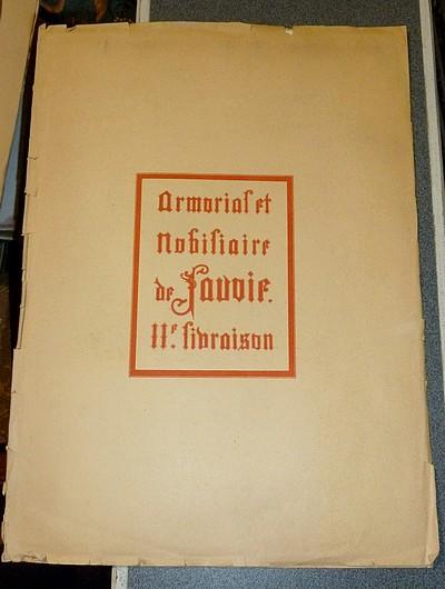 Livre ancien Savoie - Armorial et Nobiliaire de l'Ancien Duché de Savoie (Tome VI - 11e Livraison) - Foras, Le Cte E. Amédée de & Baron d'Yvoire