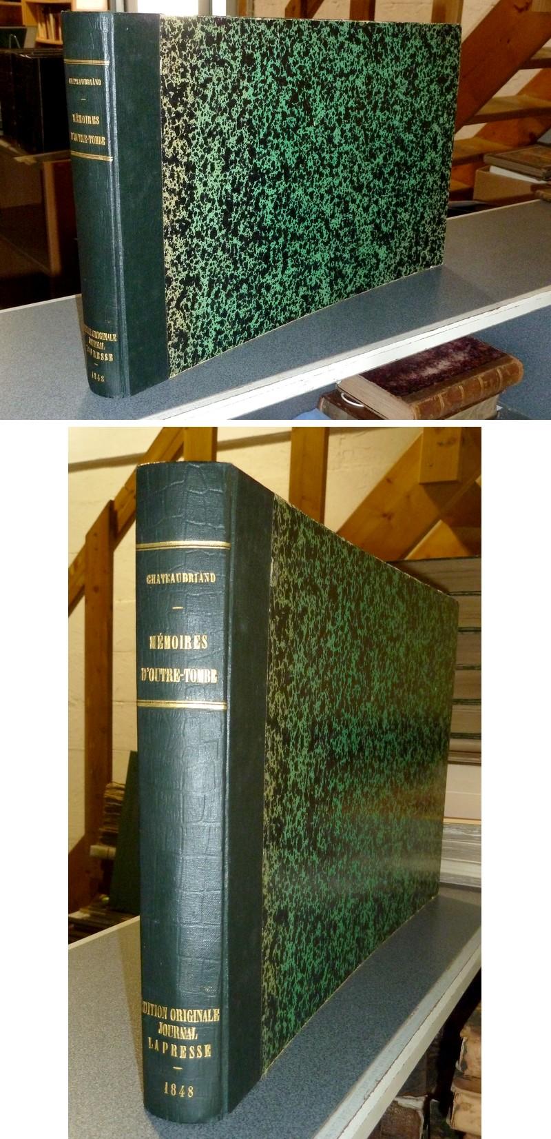 Livre ancien - Mémoires d'Outre-Tombe. Publiés en feuilleton dans « La... - Chateaubriand, Vicomte Alphonse de