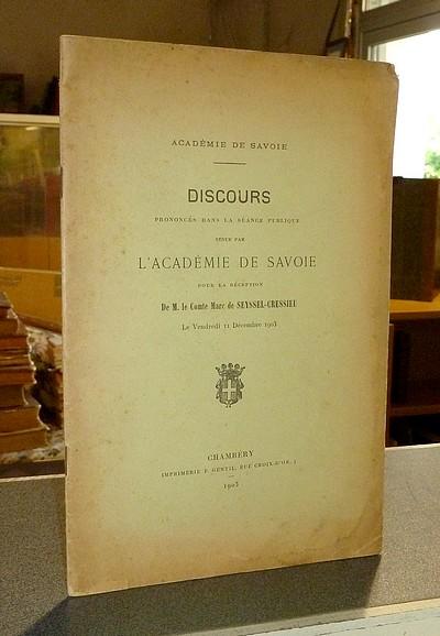 Livre ancien Savoie - Discours prononcés dans la séance publique tenue par l'Académie de Savoie... -