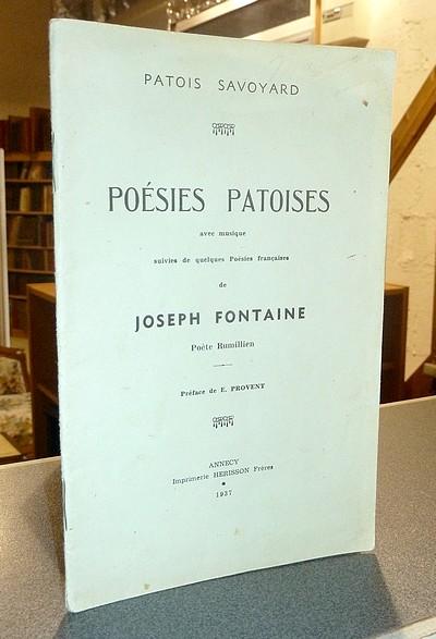 Livre ancien Savoie - Poésies patoises avec musique suivies de quelques Poésies françaises - Fontaine (Poète Rumilien), Joseph