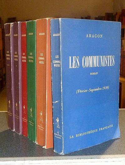 Livre ancien - Les Communistes (6 volumes, complet) Février-Septembre... - Aragon