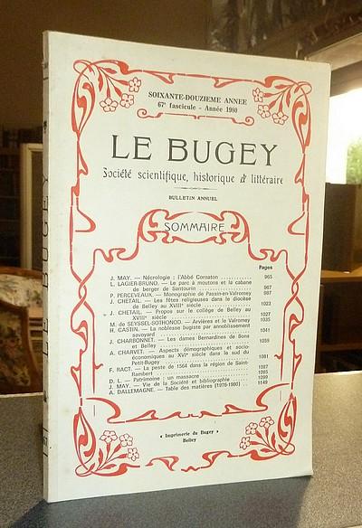 Livre ancien Savoie - Le Bugey. 72e année, 67e fascicule - Année 1980. Société Scientifique,... - Le Bugey. Société Scientifique Historique et Littéraire