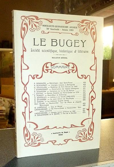 Livre ancien Savoie - Le Bugey. 75e année, 70e fascicule - Année 1983. Société Scientifique,... - Le Bugey. Société Scientifique Historique et Littéraire