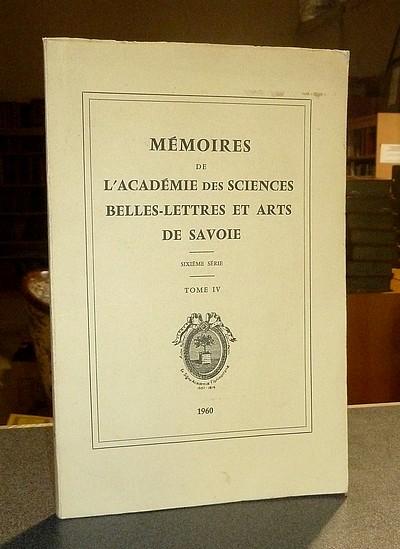 Livre ancien Savoie - Mémoires de l'Académie des Sciences, Belles-Lettres et Arts de Savoie.... - Mémoires de l'Académie des Sciences Belles-Lettres et Arts de Savoie