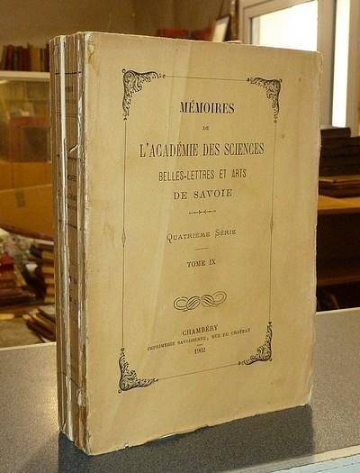 Livre ancien Savoie - Mémoires de l'Académie des Sciences Belles-Lettres et Arts de Savoie.... - Académie des Sciences Belles-Lettres et Arts de Savoie