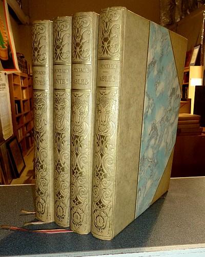 Livre ancien - Fables (2 volumes) et Contes (2 volumes) - La Fontaine, Jean de & Touchet, Jacques