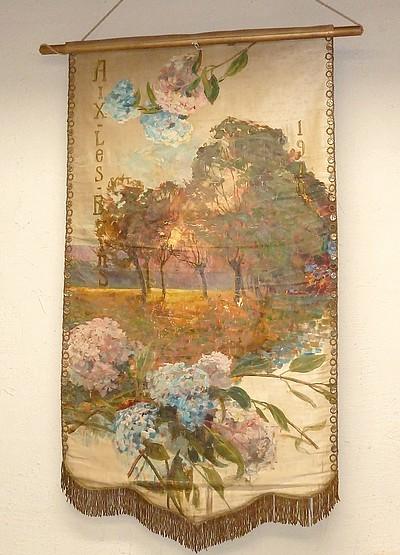 Livre ancien - Bannière pour la Ville d'Aix-les-Bains, 1910 - Communal, Joseph