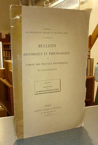 Livre ancien Savoie - Rapport de la Mission historique en Italie aux archives d'état de Turin - Dufayard