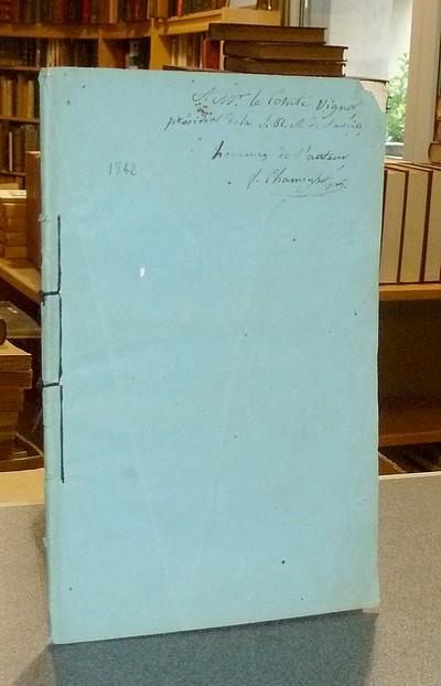 Livre ancien Savoie - Élévation de Chambéry au-dessus du niveau de la mer, pour servir de base à... - Chamousset, Abbé