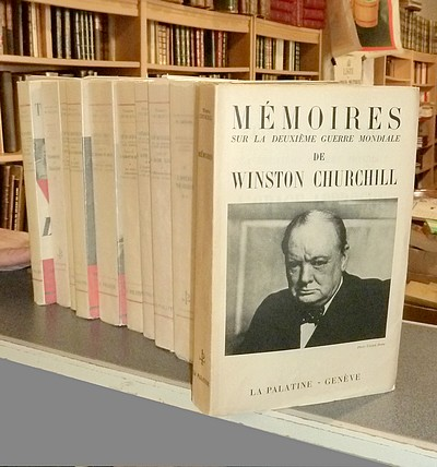 Livre ancien - Mémoires de la Deuxième Guerre Mondiale (12 volumes) - Churchill, Winston