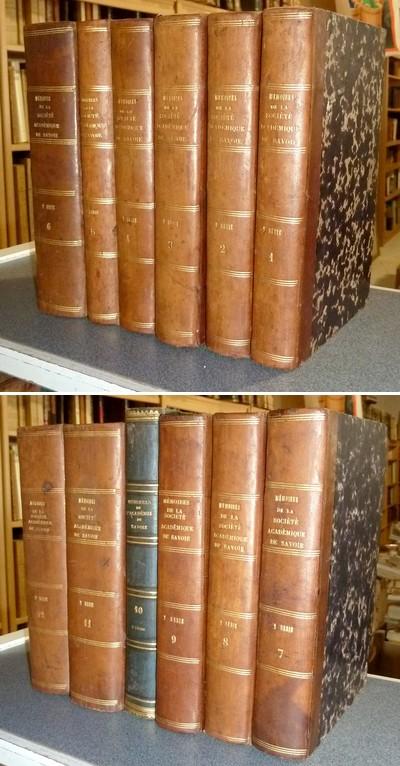 Livre ancien Savoie - Mémoires de l'Académie Royale ou Impériale de Savoie, Seconde Série... - Société Académique de Savoie - Académie Royale ou Impériale de Savoie