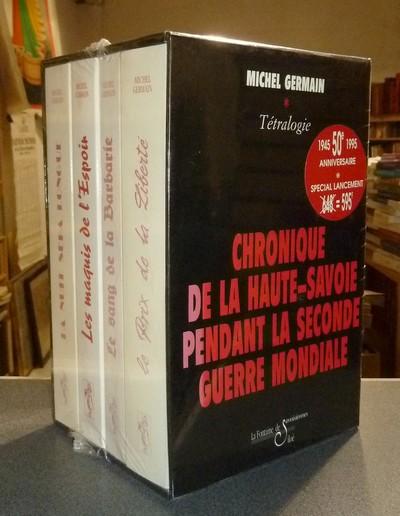 Livre ancien Savoie - Coffret de 4 volumes : La nuit sera longue (3/09/42-8/11/42) - Le maquis de... - Germain, Michel