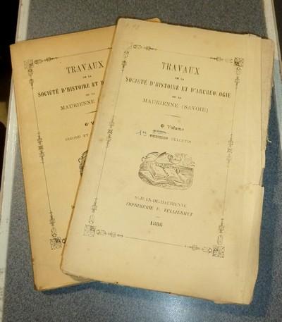 Livre ancien Savoie - Société d'Histoire et d'Archéologie de Maurienne - Première Série, 6e... -